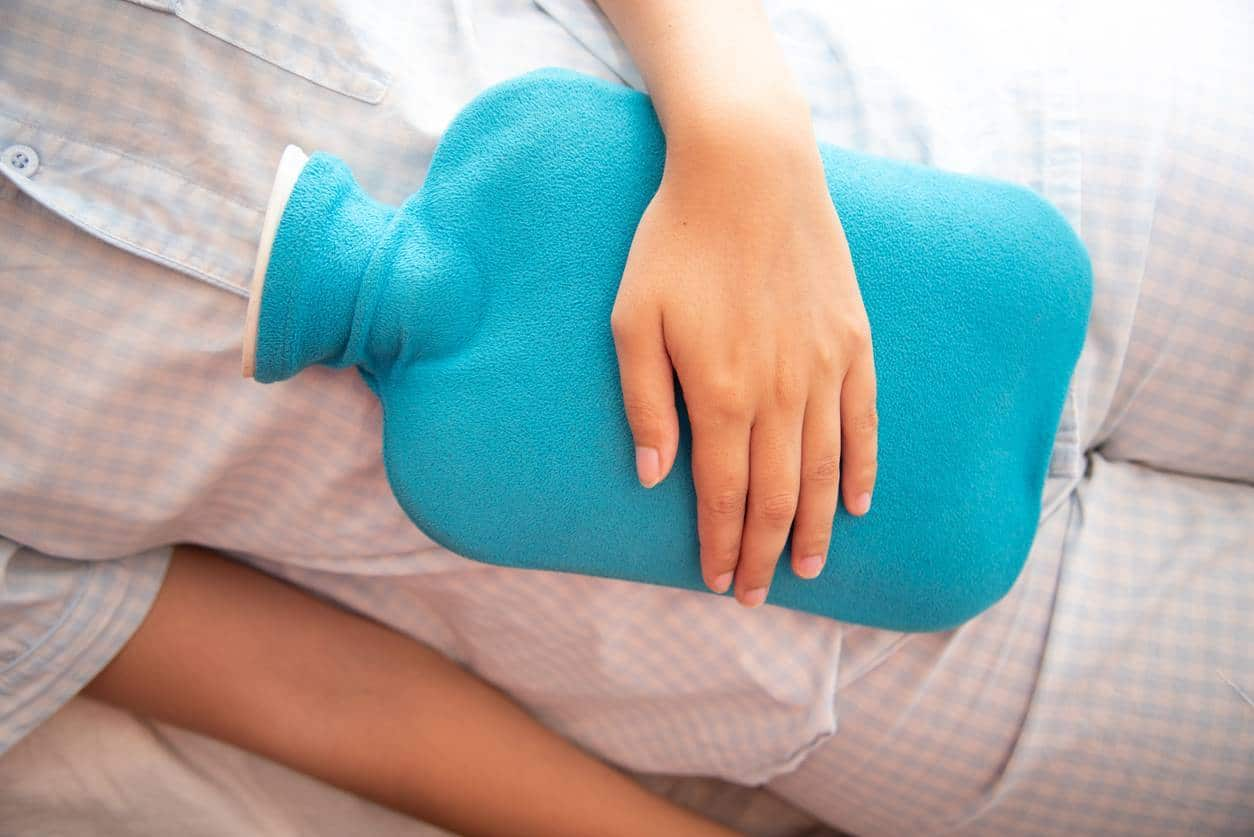 Bouillotte au lit